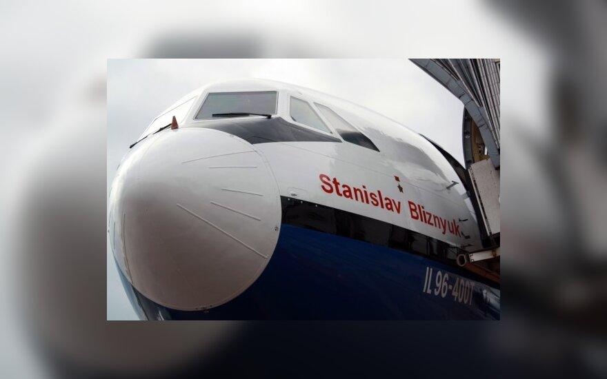 В Каунасе впервые сел самолет Ил-96-400Т из Шанхая