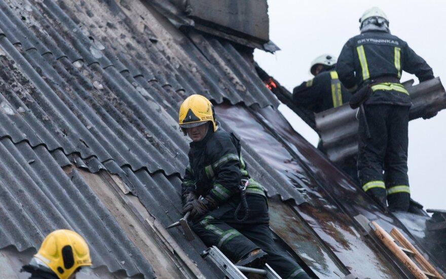 Во время пожара в Каунасе погибли два человека