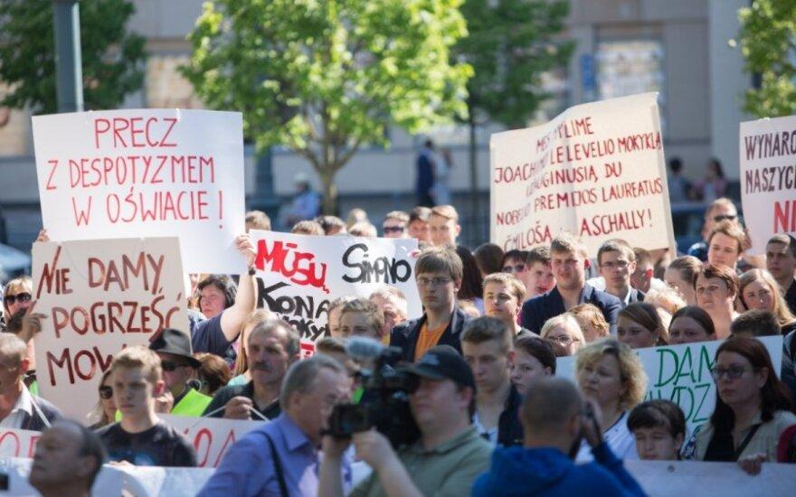 Протест у правительства Литвы: что будет со школами Вильнюсского края?