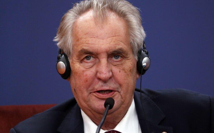 Čekijos prezidentas Milošas Zemanas