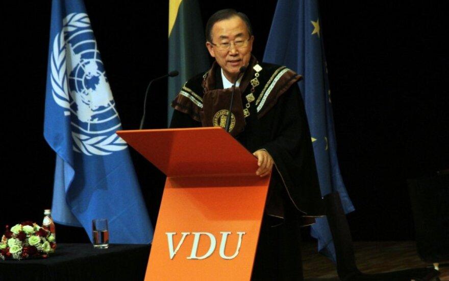 Генсек ООН в Каунасе цитировал на лекции письма Гедиминаса