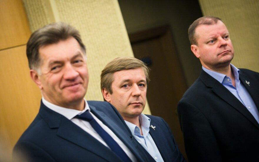 Algirdas Butkevičius, Ramūnas Karbauskis, Saulius Skvernelis
