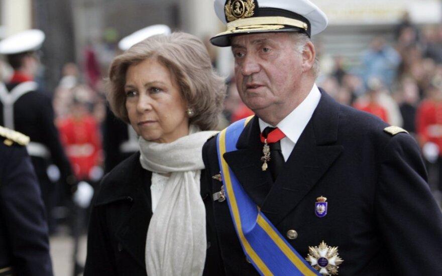 Ispanijos karalius Juanas Carlosas ir karalienė Sofia