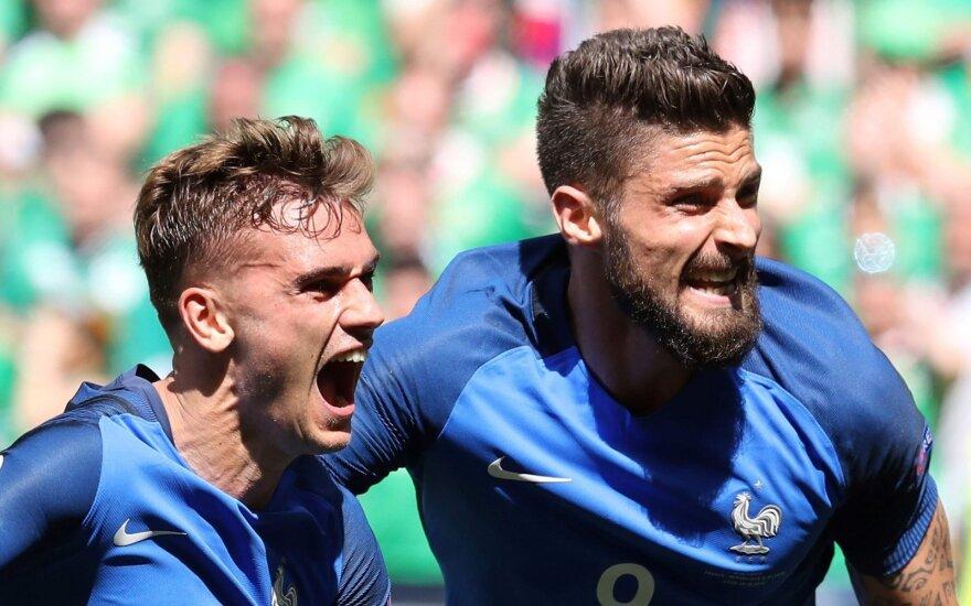 Евро-2016: дубль Гризманна приносит Франции волевую победу над Ирландией