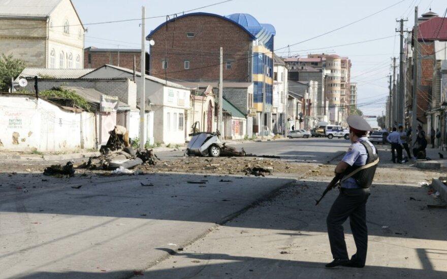 Dagestane per dvigubą sprogdinimą žuvo vienas žmogus, dar apie 60 buvo sužeisti