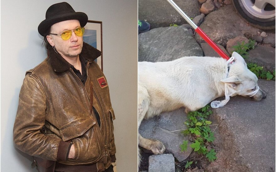 Linas Cicėnas ir jo šuo