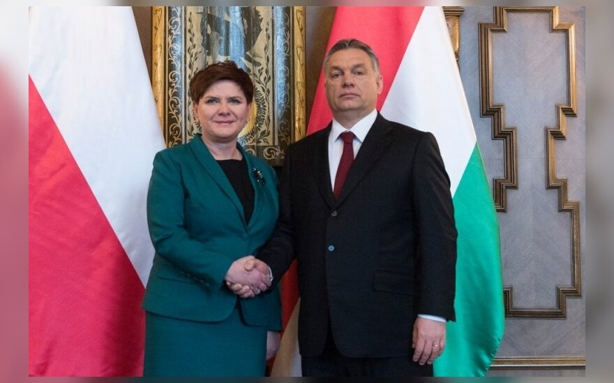 Beata Szydło spotkała się Viktorem Orbanem. Fot: P. Tracz / KPRM