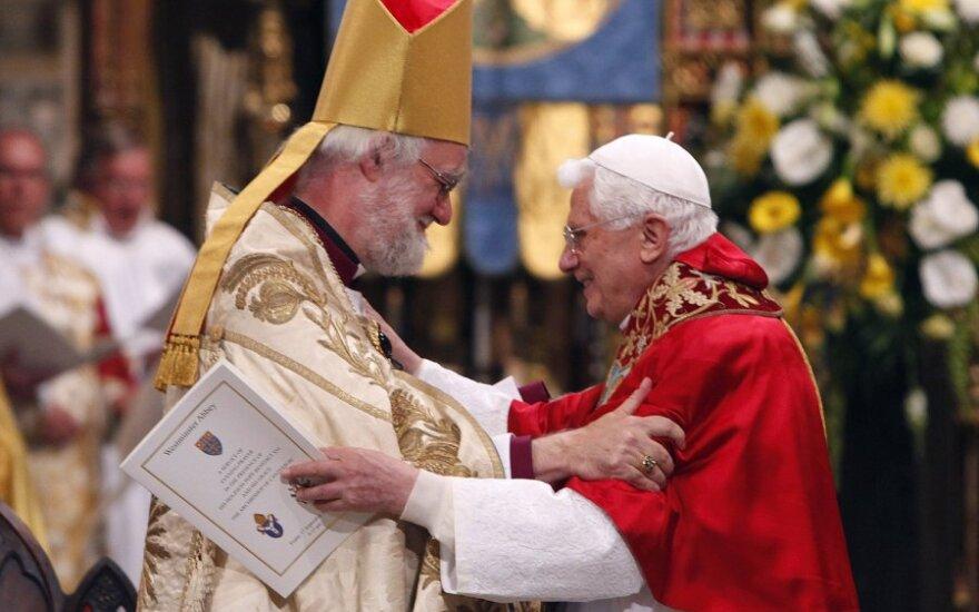 Kenterberio arkivyskupas Rowanas Williamsas ir popiežius Benediktas XVI
