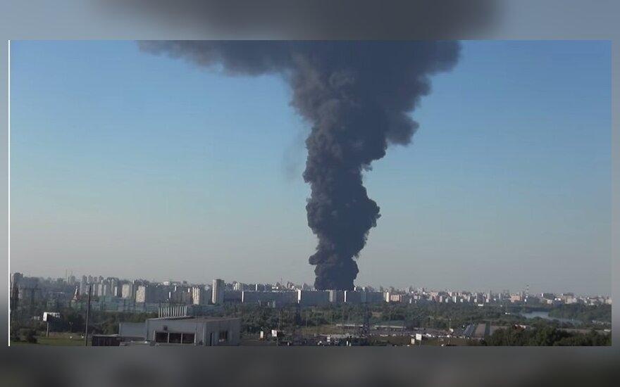 На юго-востоке Москвы произошел крупный пожар