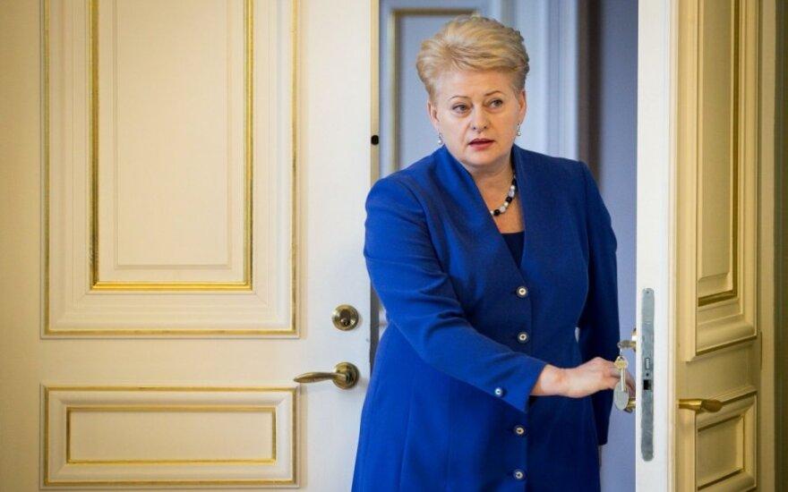 """Dalia Grybauskaitė: Otrzymałam """"czarną listę"""" wiceministrów"""