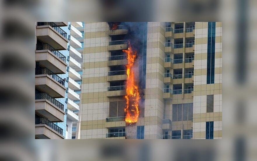 В Дубае произошел пожар в одном из крупных высотных зданий