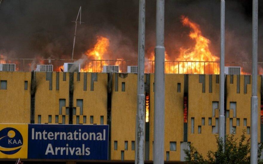 Gaisras Kenijos oro uoste
