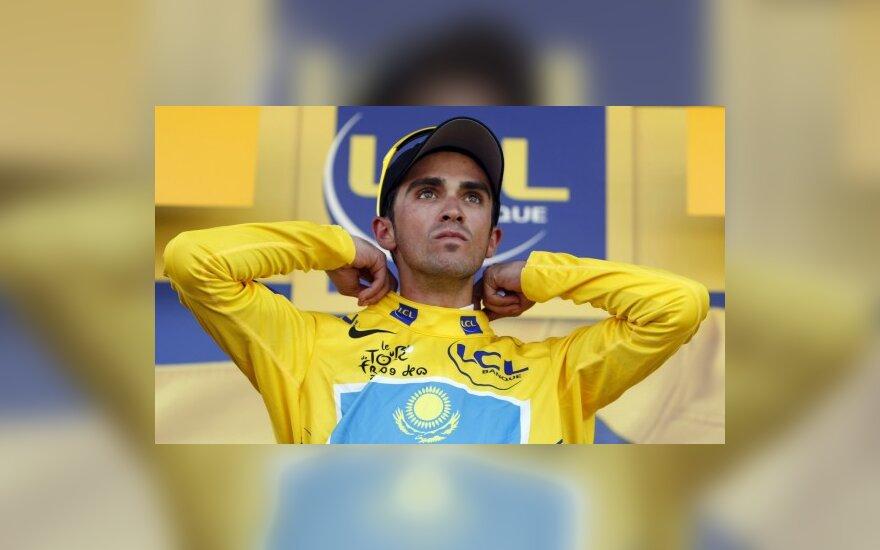Alberto Contadoras su geltonais lyderio marškinėliais