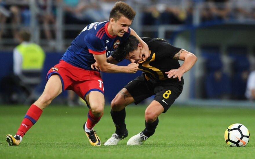 Maskvos CSKA ir Atėnų AEK žaidėjų grumtynės