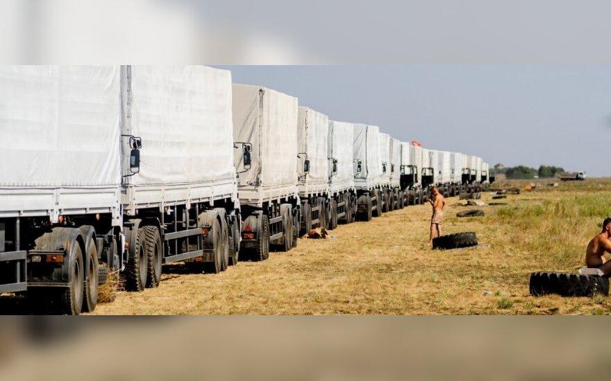 Гуманитарный караван нашелся на территории России