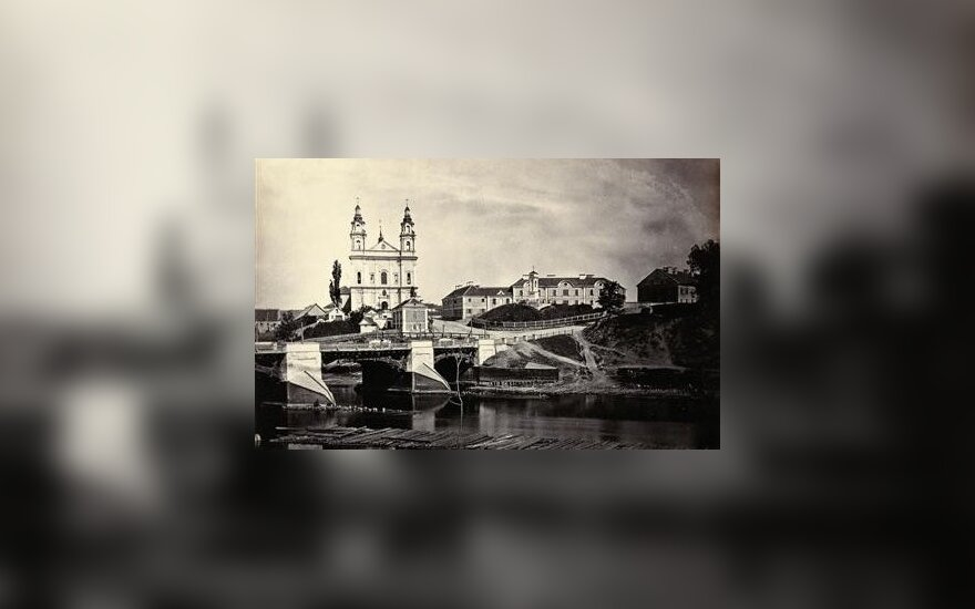Józef Czechowicz. Žaliasis tiltas ir Šv. Rapolo bažnyčia 1874. VUB