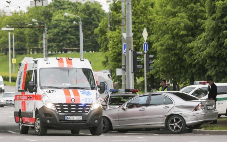 В Вильнюсе в ДТП пострадали три человека