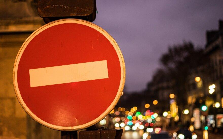 На улице Наугардуко в Вильнюсе - временные ограничения