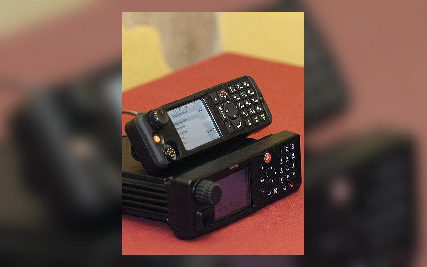 """""""TETRA"""" radijo aparatai, """"Motorola"""", globalaus pozicionavimo sistema, GPS, MTM800, CM5000"""