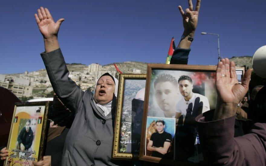 """Protestuoja dėl """"Hamas"""" narių sulaikymo"""