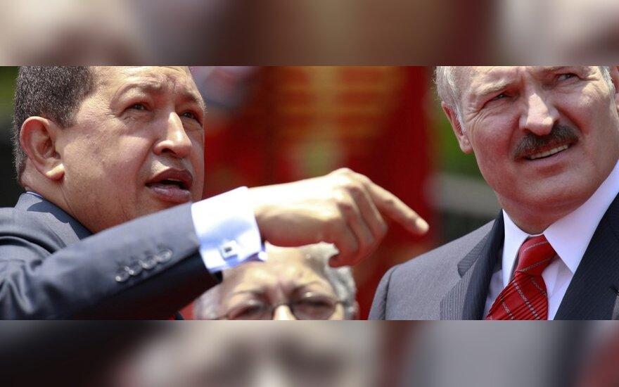 Hugo Chavezas ir Aleksandras Lukašenka