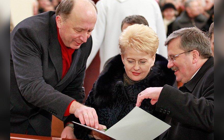 Komorowski nie chce komentować wypowiedzi Grybauskaitė