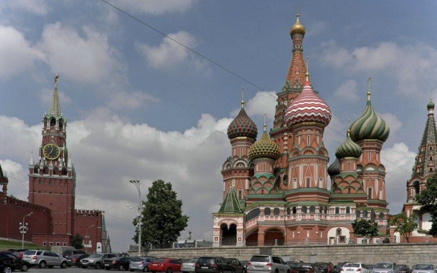 Tort w kształcie Kremla na rosyjskiej imprezie w Krakowie