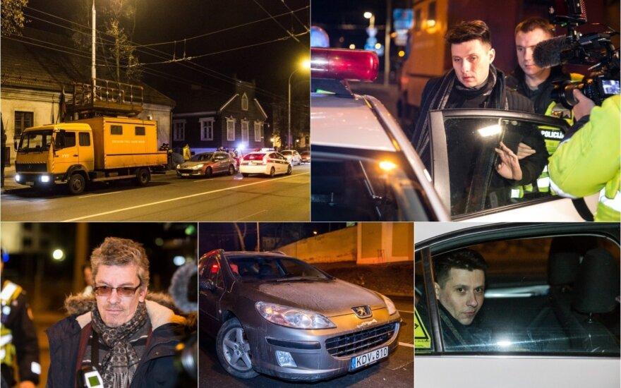 Рейд в Вильнюсе: пьяный водитель врезался в машину электриков