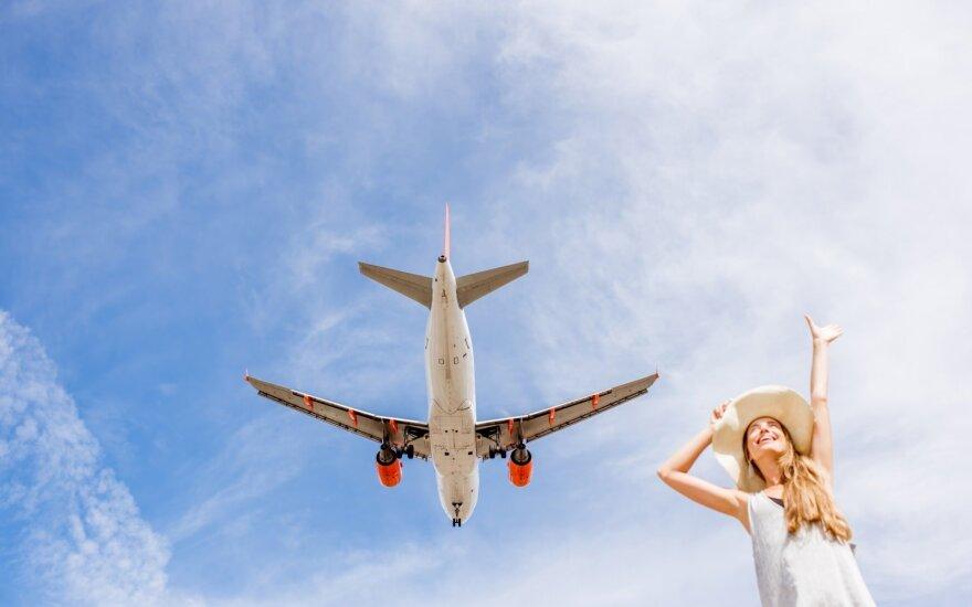 Пролетая над Литвой: количество рейсов в воздушном пространстве выросло на 12%