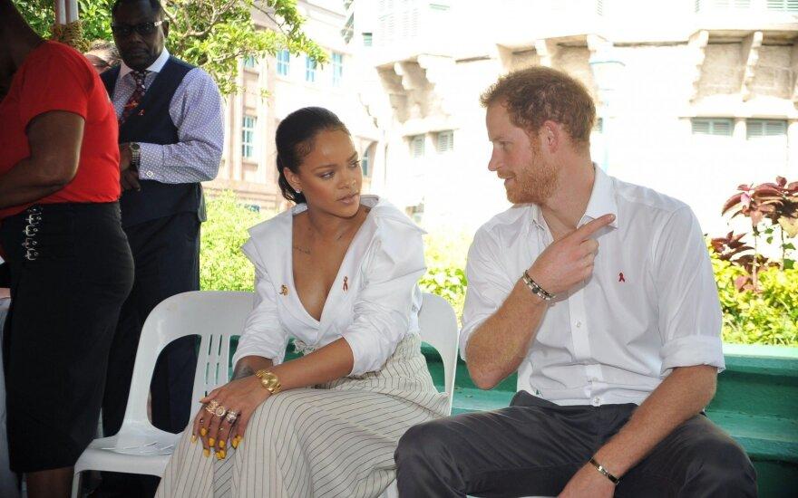 Prince Harry ir Rihanna