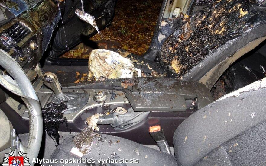 В Каунасе сожгли BMW, ищут виновного