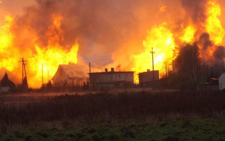 Potężny wybuch gazociągu w Polsce