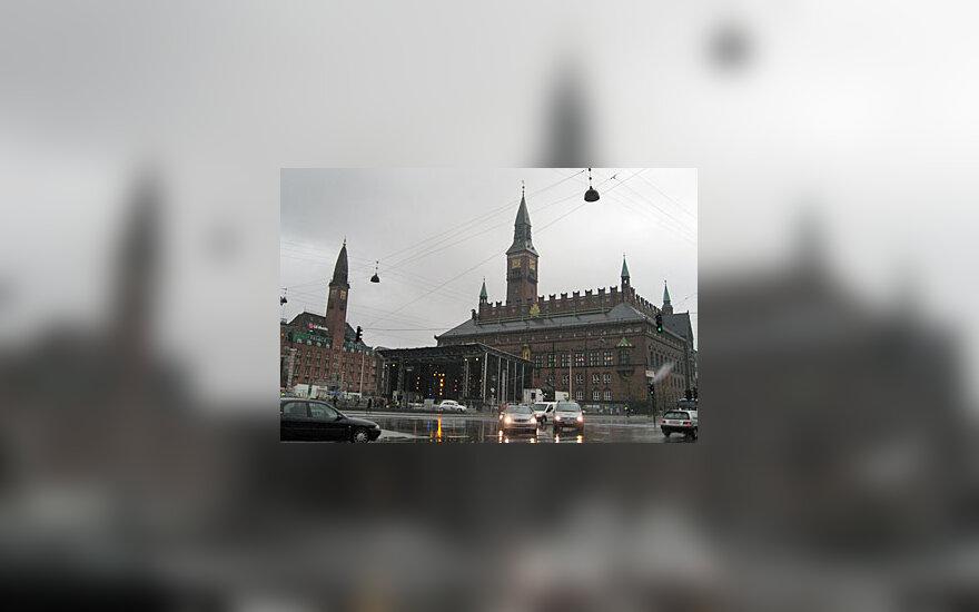 Kopenhagos centre stūksanti Rotušė.