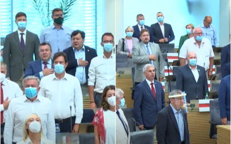 Neeilinis Seimo posėdis rugpjūčio 18 dieną.