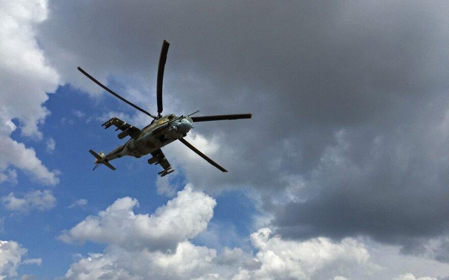 В Сирии разбился вертолет РФ: оба пилота погибли, борттехник эвакуирован