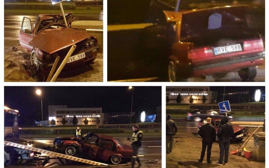 Очевидцы засняли на видео жуткое ДТП в Клайпеде