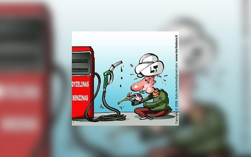 Бензин в Литве – больше евро за литр