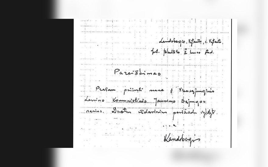 Vytauto Landsbergio pareiškimas, facebook nuotr.