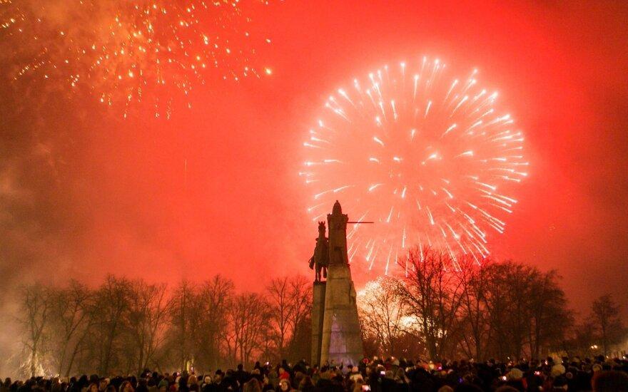 Кaк встречaли Новый год нa глaвной площaди Литвы
