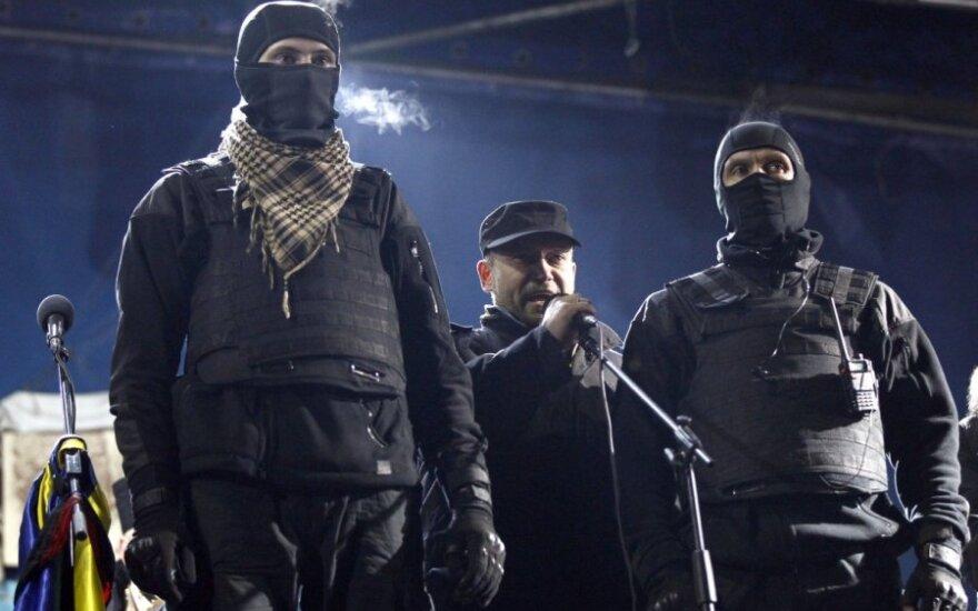 Kalba radikalaus judėjimo Pravyj sektor lyderis Dmitro Jarošas