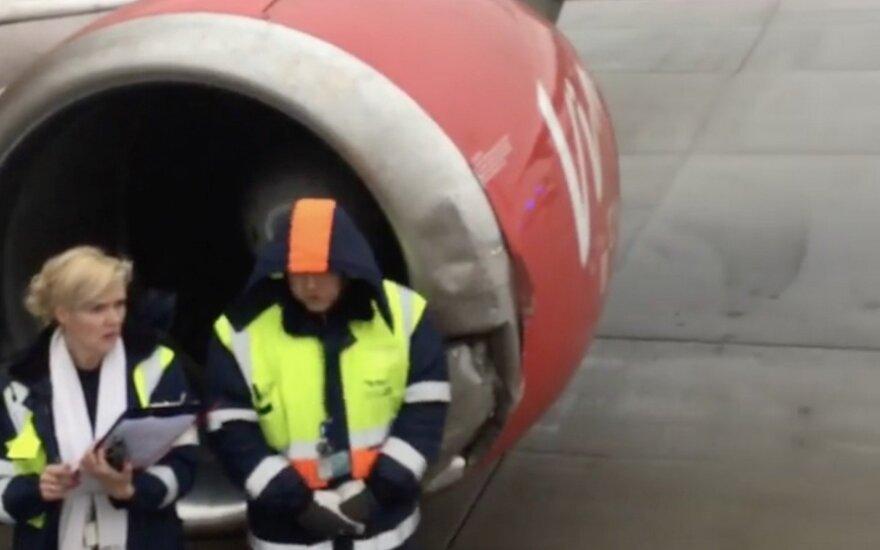 """В аэропорту """"Рига"""" самолет сошел со взлетно-посадочной полосы"""