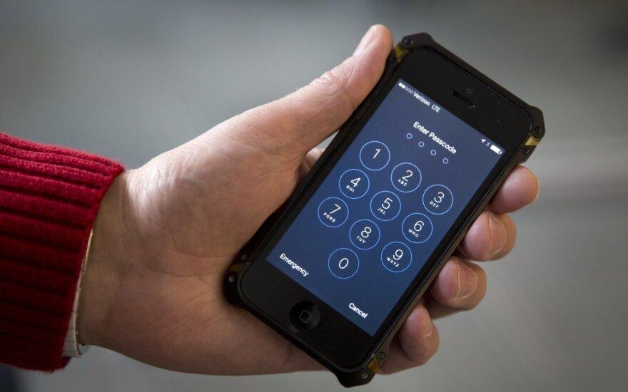 iPhone slaptažodis