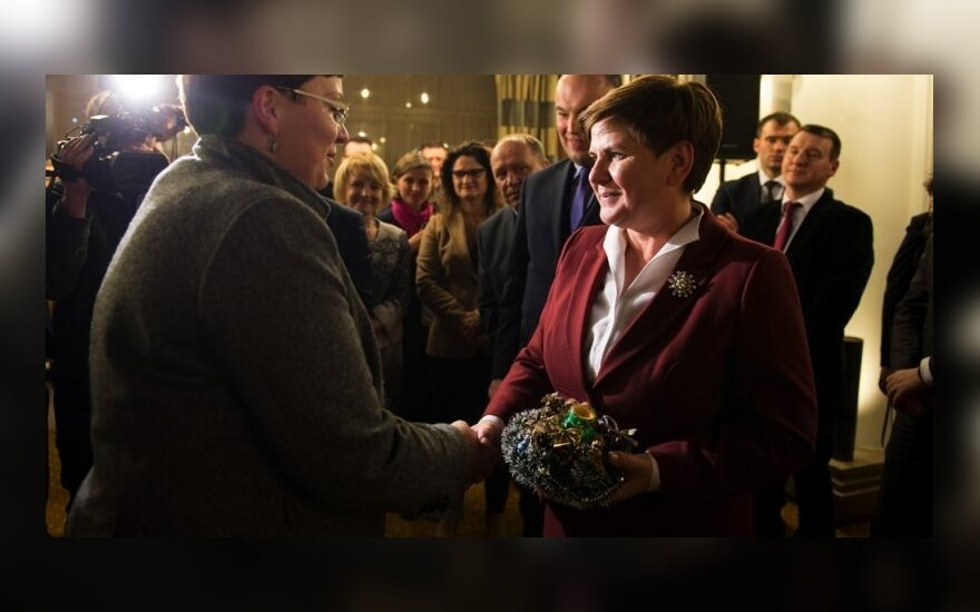 Premier Beata Szydło na spotkaniu z Polonią