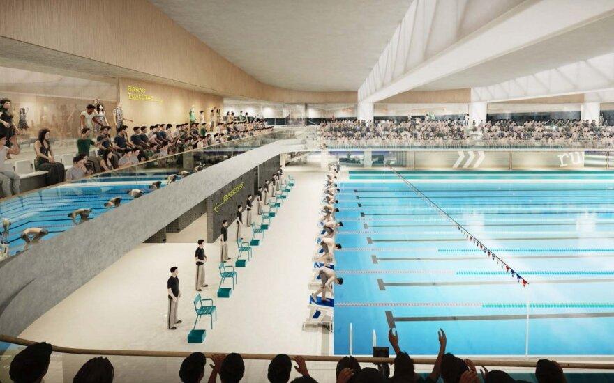 Строительство Лаздинайского бассейна затянется на 1,5 года