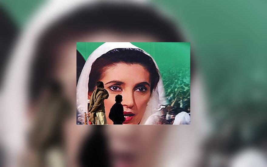 Benazir Bhutto portretas