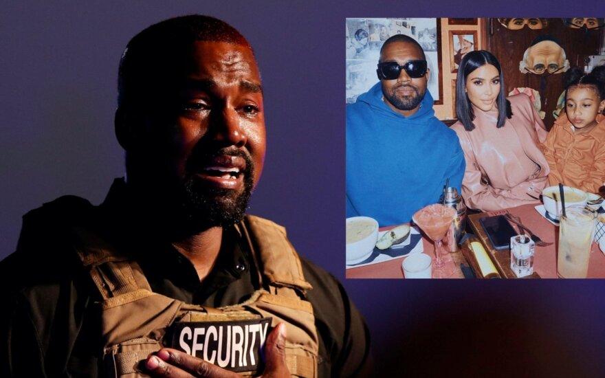 Kanye Westas ir Kim Kardashian, dukra North