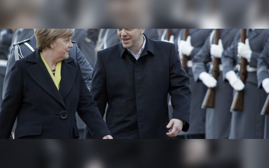 A. Merkel susitikimas su A. Tsipru