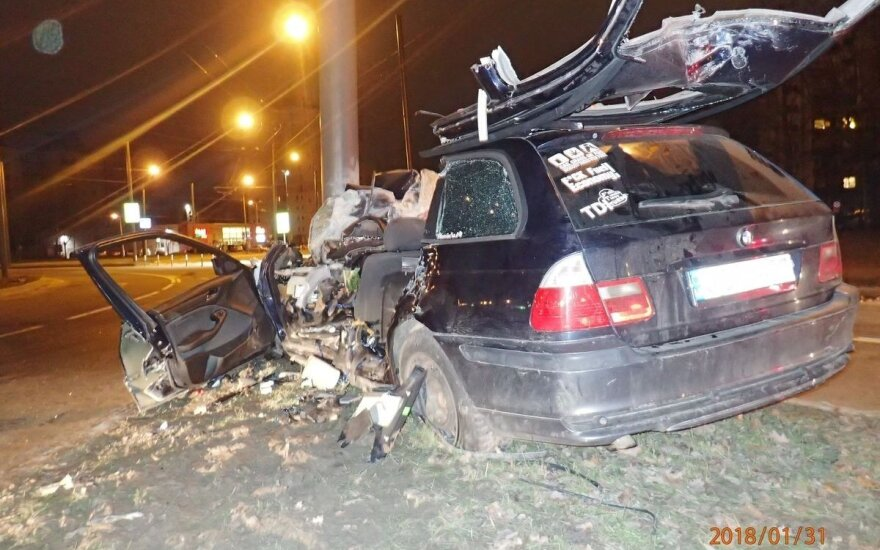 BMW avarija Kaune