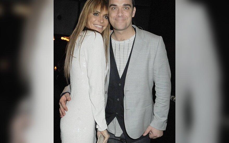 Ayda Field  ir Robbie Williamsas