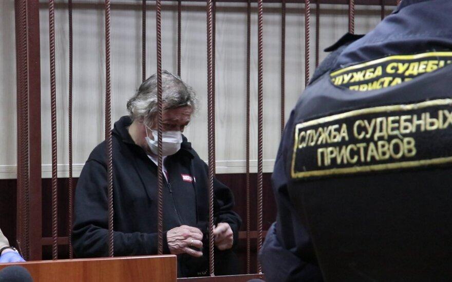 Michailas Jefremovas po avarijos